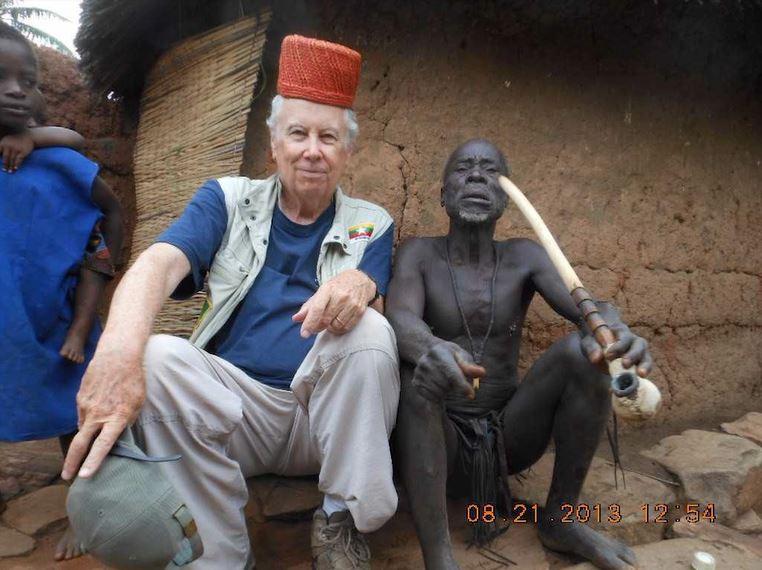 John Alexander with shaman
