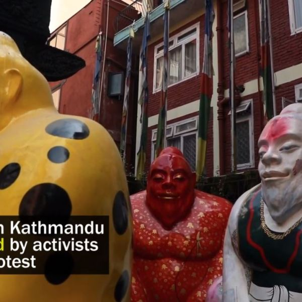 Yeti statues Nepal