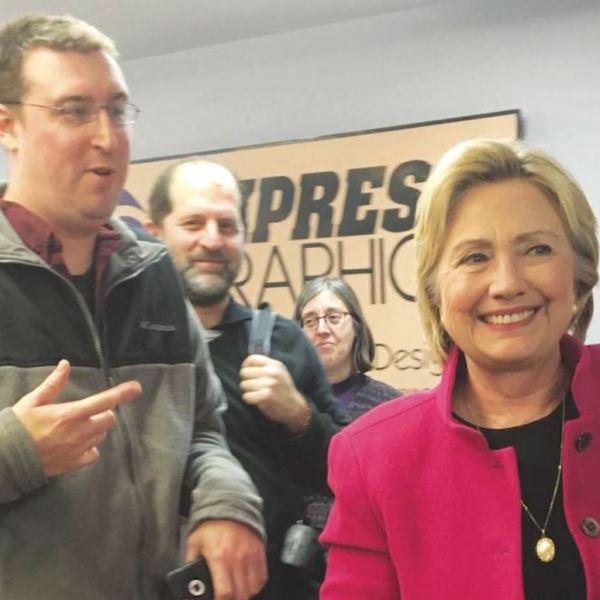 Daymond Steer with Hillary Clinton