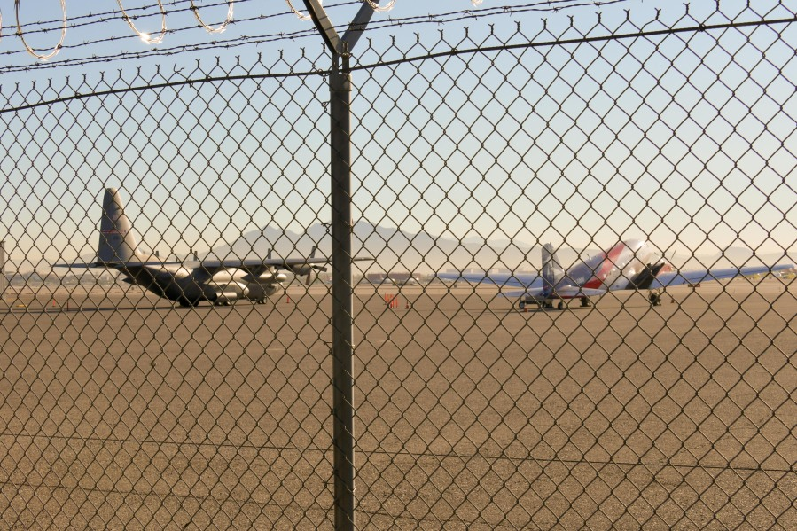 DC-3 at McCarran tracked doing survey work over Area 51 (Photo: Duncan Phenix)